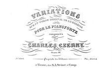 Variations sur un thême original de la Bohème, Op.46: Variations sur un thême original de la Bohème by Карл Черни