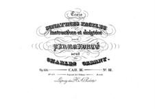 Три легкие сонатины, Op.158: Сонатина No.3 by Карл Черни