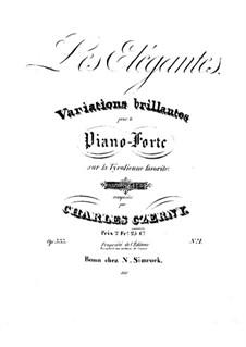 Les elegantes, Op.333: No.1 Variations brillantes sur la tyrolienne favorite by Карл Черни