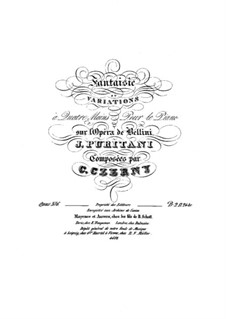 Fantaisie et Variations à Quatre mains sur l'Opéra 'I Puritani' de Bellini, Op.376: Fantaisie et Variations à Quatre mains sur l'Opéra 'I Puritani' de Bellini by Карл Черни