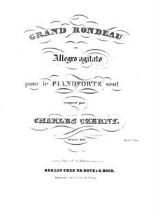 Grand Rondeau ou Allegro Agitato, Op.405: Grand Rondeau ou Allegro Agitato by Карл Черни