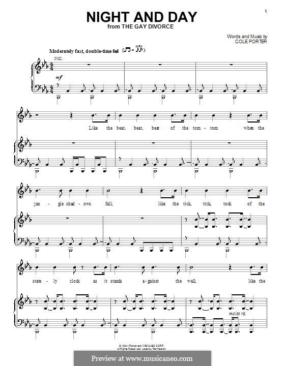 Night and Day (Frank Sinatra): Для голоса и фортепиано (или гитары) by Кол Портер