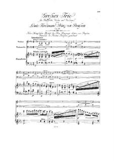 Фортепианное трио ми-бемоль мажор, Op.10: Партитура by Людвиг Фердинанд Принц Пруссии