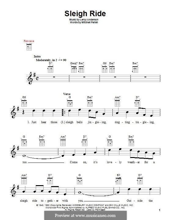 Sleigh Ride: Для укулеле by Лерой Андерсон