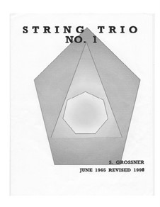 String Trio, for violin, viola and cello: String Trio, for violin, viola and cello by Sonja Grossner