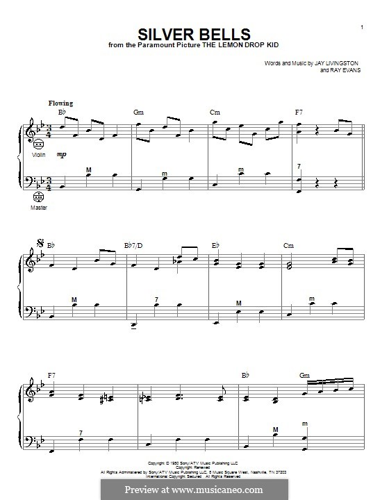 Silver Bells: Для аккордеона by Jay Livingston, Raymond Evans