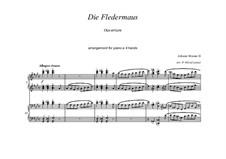 Летучая мышь: Overture for piano four hands by Иоганн Штраус (младший)