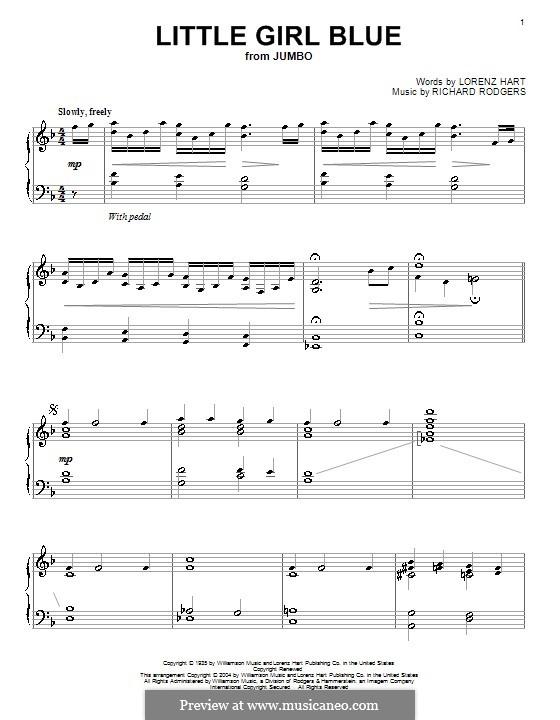 Little Girl Blue: Для фортепиано by Richard Rodgers