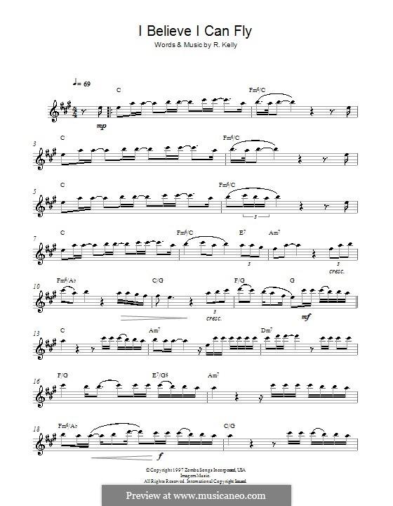 I Believe I Can Fly: Для альтового саксофона by Robert Kelly