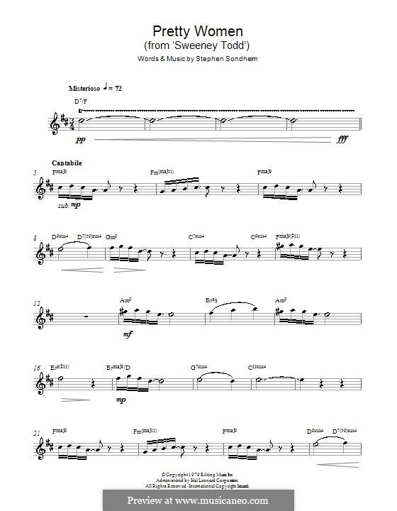 Pretty Women: Для альтового саксофона by Stephen Sondheim