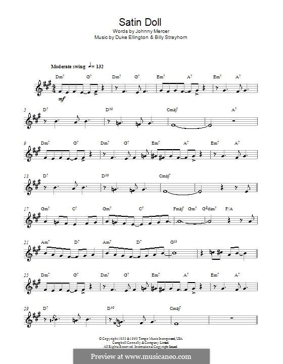 Satin Doll: Для альтового саксофона by Billy Strayhorn, Duke Ellington