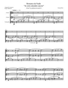 Je crois entendre encore: Для струнного трио by Жорж Бизе