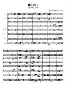 Рондино для духовых инструментов, WoO 25: Партитура by Людвиг ван Бетховен