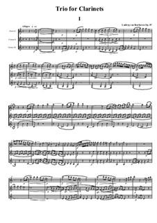 Трио для двух гобоев и английского рожка, Op.87: Часть I by Людвиг ван Бетховен