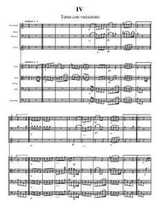 Септет для духовых и струнных, Op.20: Часть IV by Людвиг ван Бетховен
