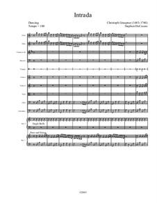 A Christmas Carol (musical): Intrada by Франц Ксавьер Грубер, Кристоф Граупнер, Stephen DeCesare, Unknown (works before 1850)