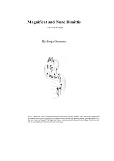 Magnificat and Nunc Dimittis: Magnificat and Nunc Dimittis by Sonja Grossner