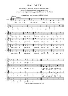 Gaudete: For SSAA voices by folklore