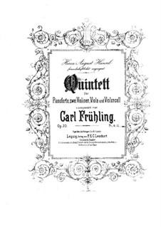 Фортепианный квинтет фа-диез минор, Op.30: Партитура by Карл Фрюлинг