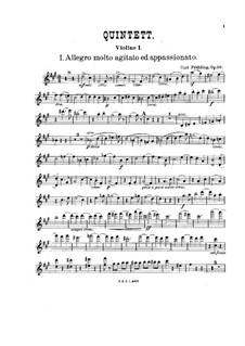 Фортепианный квинтет фа-диез минор, Op.30: Партии струнных by Карл Фрюлинг