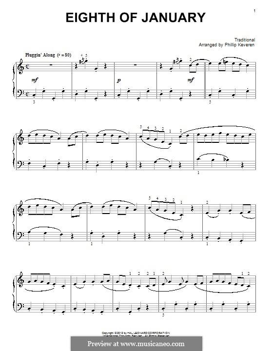 Eighth Of January: Для фортепиано by folklore