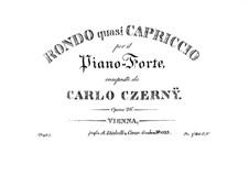 Rondo quasi Capriccio, Op.26: Rondo quasi Capriccio by Карл Черни