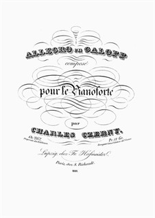 Allegro en Galopp, Op.267: Allegro en Galopp by Карл Черни
