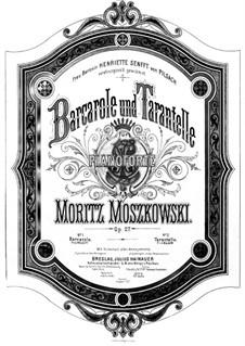 Две пьесы для фортепиано, Op.27: No.1 Barcarole by Мориц Мошковский