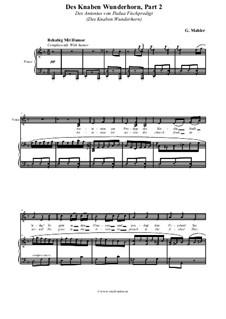 Волшебный рог мальчика: Des Antonius von Padua Fischpredigt, für Stimme und Klavier by Густав Малер