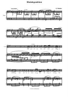 Волшебный рог мальчика: Rheinlegendchen, für Stimme und Klavier by Густав Малер