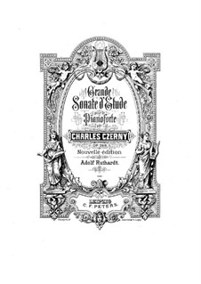 Соната для фортепиано No.10 си-бемоль мажор, Op.268: Для одного исполнителя by Карл Черни