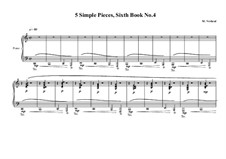 5 Simple pieces for piano: Sixth book No.4, MVWV 707 by Maurice Verheul