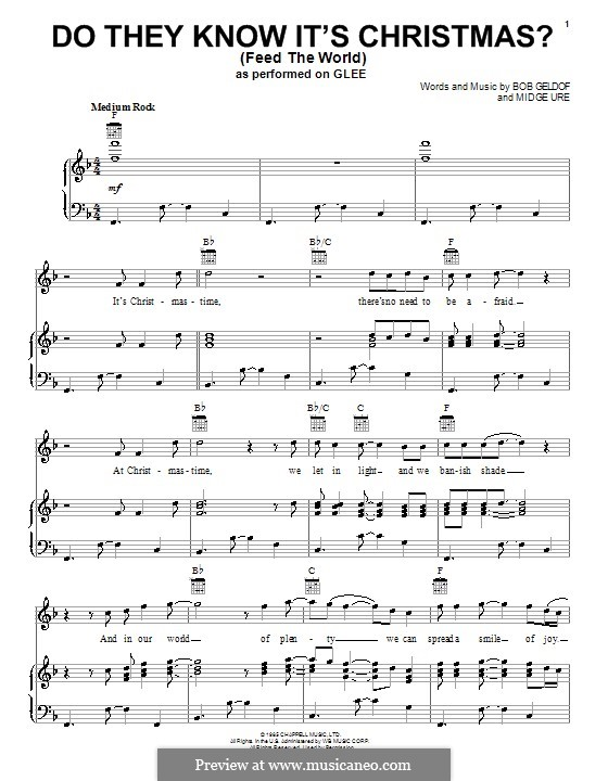 Do They Know It's Christmas? (Feed the World): Для голоса и фортепиано (или гитары) by Bob Geldof, Midge Ure