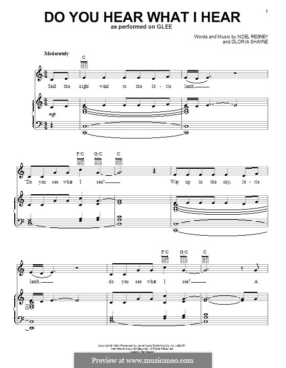 Do You Hear What I Hear: Для голоса и фортепиано или гитары (Glee Cast) by Gloria Shayne, Noël Regney