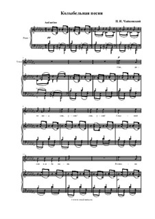 Шесть романсов, TH 95 Op.16: No.1 Колыбельная песня  by Петр Чайковский