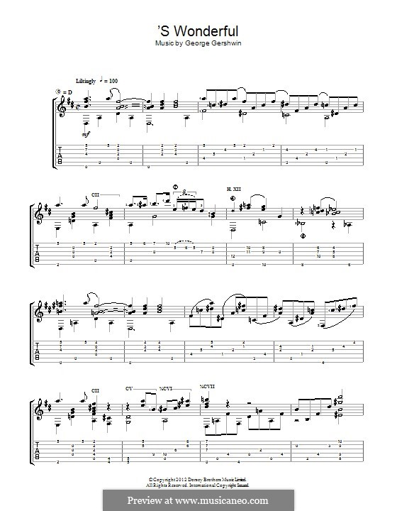 'S Wonderful: Для гитары by Джордж Гершвин