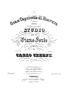 Gran Capriccio di Bravura in F minor, Op.369: Gran Capriccio di Bravura in F minor by Карл Черни