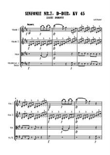 Симфония No.7 ре мажор, K.45: Andante, for string orchestra by Вольфганг Амадей Моцарт