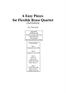 Six Easy Pieces For Flexible Brass Quartet: Six Easy Pieces For Flexible Brass Quartet by folklore, James Lord Pierpont