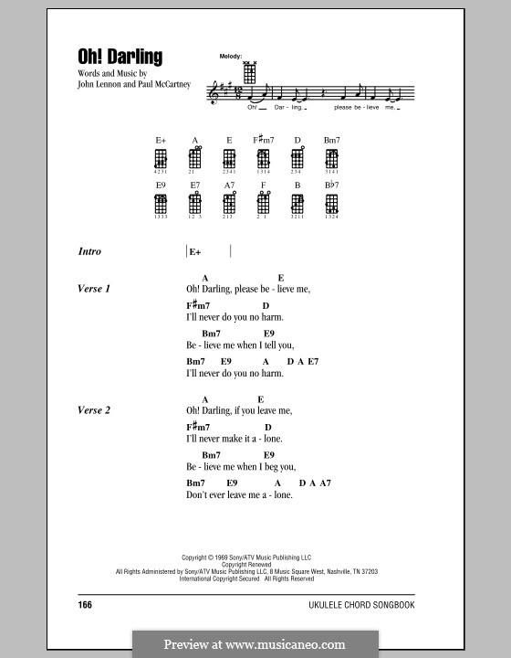 Oh! Darling (The Beatles): Для укулеле by John Lennon, Paul McCartney