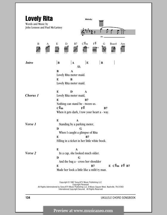Lovely Rita (The Beatles): Для укулеле by John Lennon, Paul McCartney