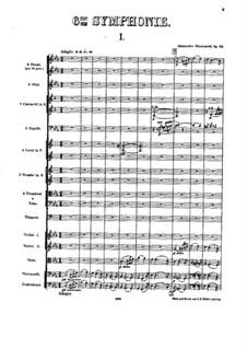 Симфония No.6 до минор, Op.58: Партитура by Александр Глазунов