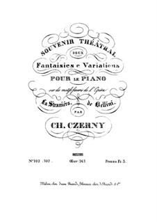 Deux Fantaisies e Variations sur des motifs favoris de l'Opéra La Straniera de Bellini, Op.247: Fantaisie No.2 by Карл Черни