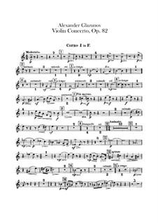 Концерт для скрипки и фортепиано ля минор, Op.82: Партии валторн by Александр Глазунов