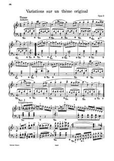 Вариации на оригинальную тему, J.55 Op.9: Для одного исполнителя by Карл Мария фон Вебер