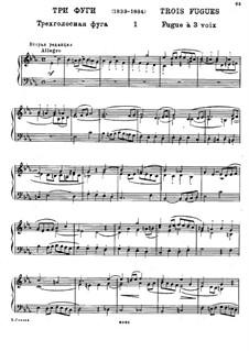 Три фуги: Фуга No.1 by Михаил Глинка
