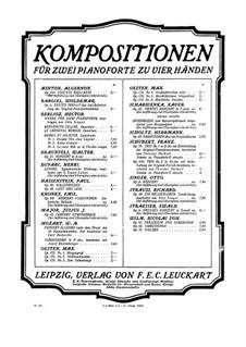 Блестящая токката для двух фортепиано в четыре руки, Op.144: Клавир by Алджернон Эштон