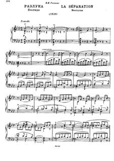Разлука: Для фортепиано by Михаил Глинка