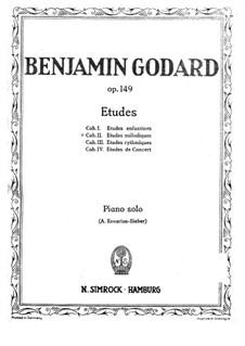 Этюды для фортепиано, Op.149: Мелодические этюды (Тетрадь II) by Бенжамин Годар