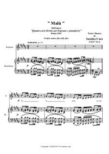 21 Opera Arias and Sacred Arias for Soprano: Malù. Soprano and piano, CS217 No.4 by Santino Cara